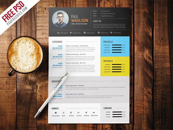 layout design resume