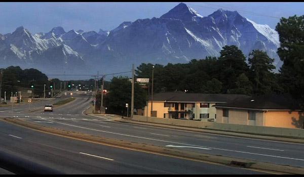 mountain scenery digital