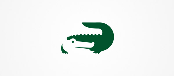 negative space crocodile