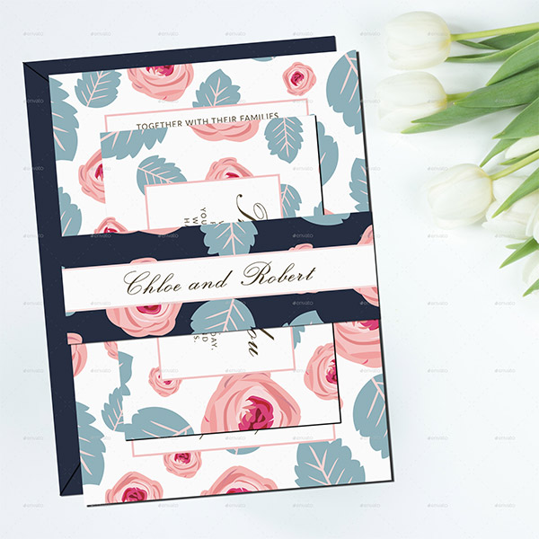 flower designs invitations