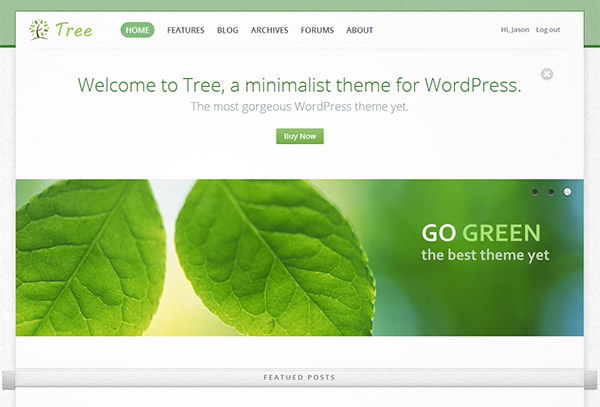 green blog themes