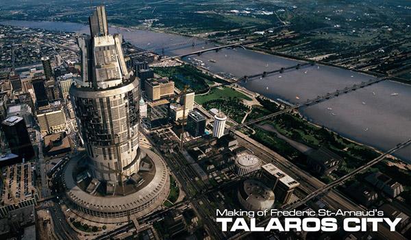 futuristic metropolis digital