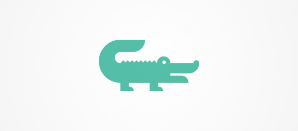 simple crocodile logo