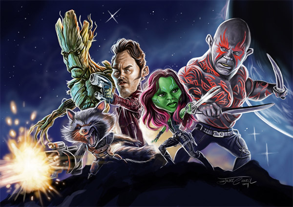 caricature guardian galaxy