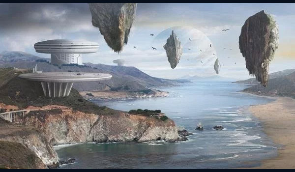sci-fi scenery digital