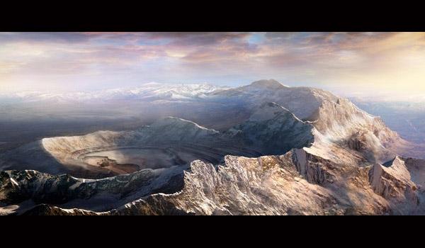 landscape matte painting