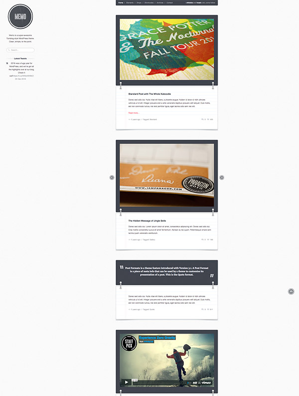 tumblog style website