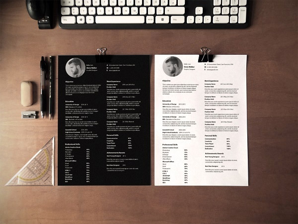 minimal design template