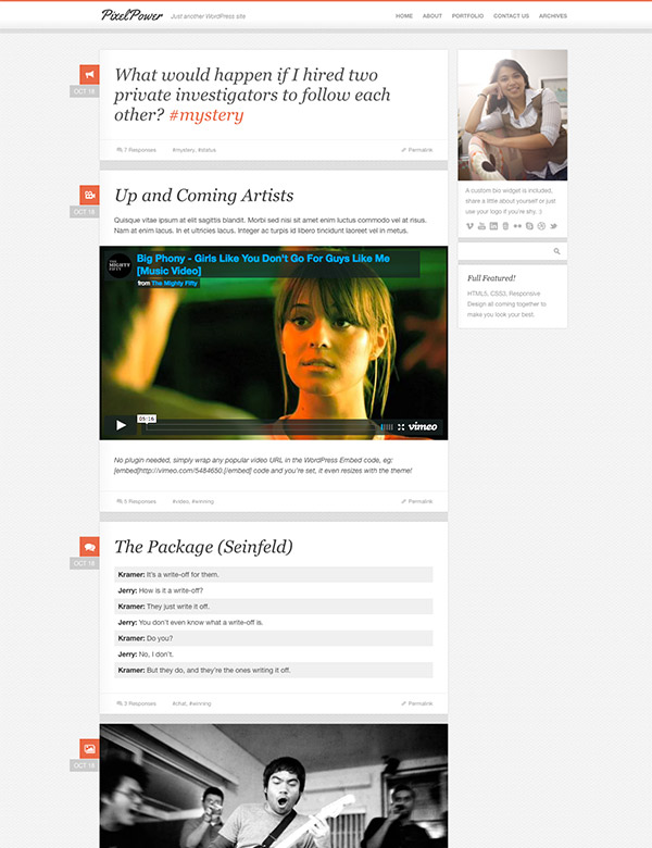 latest tumblog themes