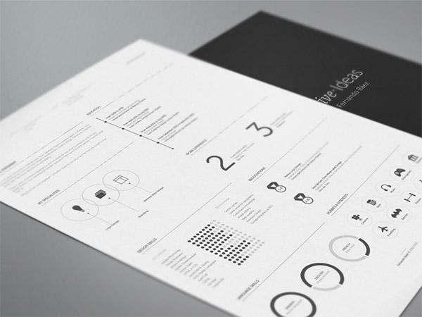 contemporary resume design