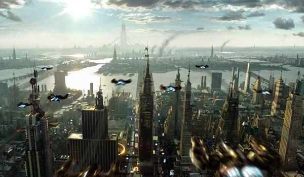 cityscape sci-fi