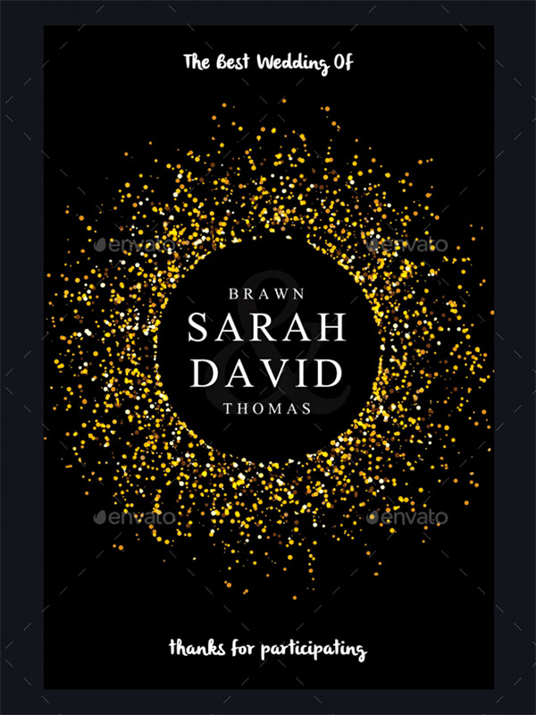 gold dark invite