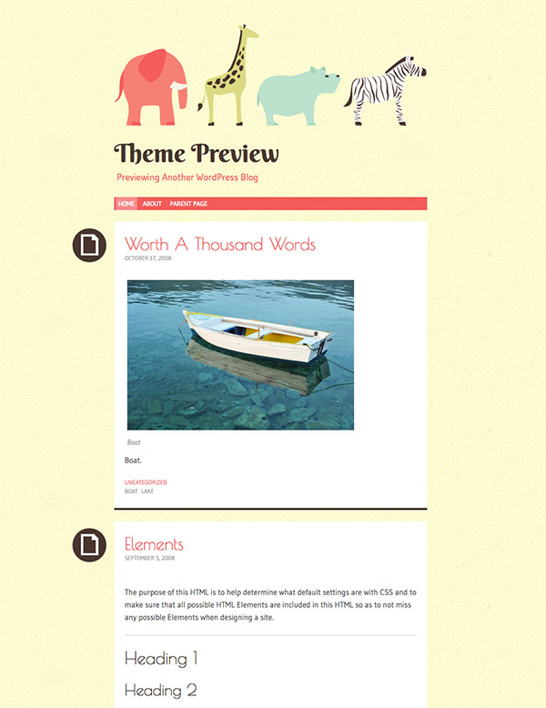 children blog theme
