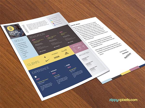 colorful CV design