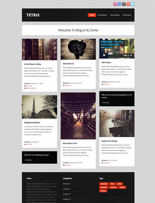 masonry free wordpress