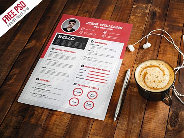 CV template PSD