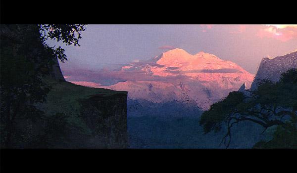 landscape digital paint
