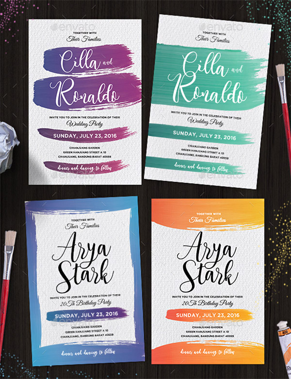 graphic design invitations
