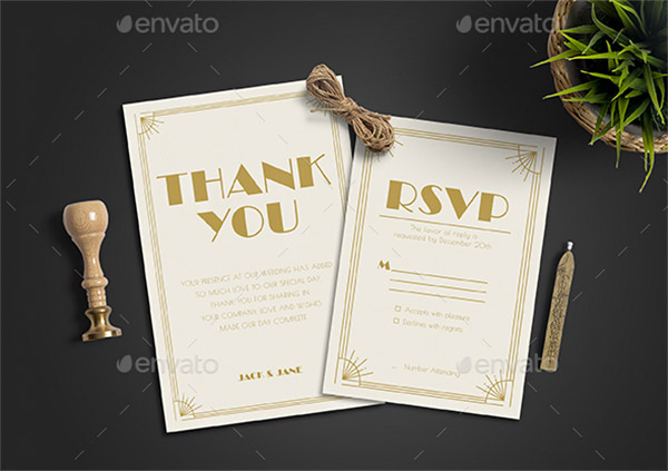 clean wedding card design