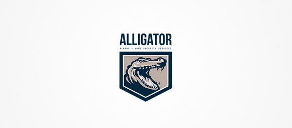 logo illustration crocodile