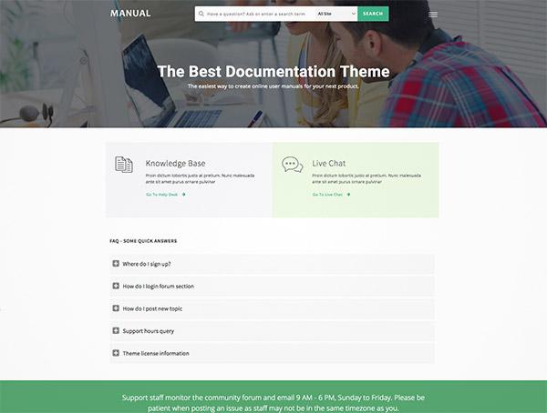 online documentation theme