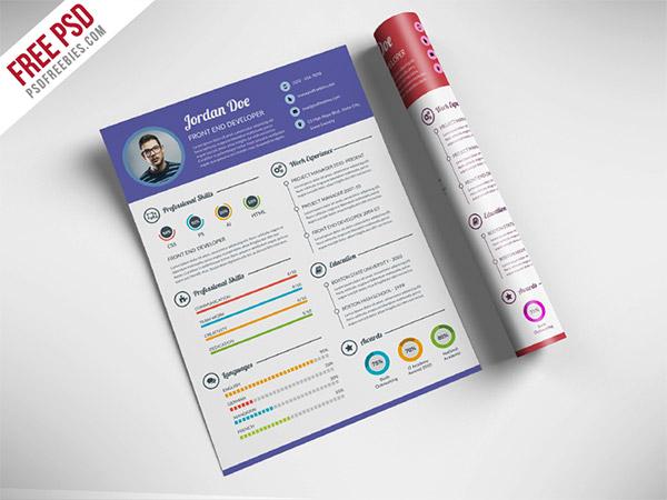 33 free resume cv templates to help you get your job naldz graphics photoshop template cv yelopaper Gallery