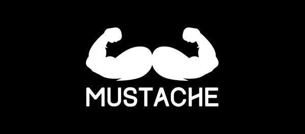 mustache logo  design