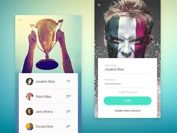 minimal leaderboard UI