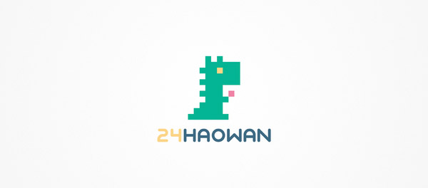 pixelated logo design