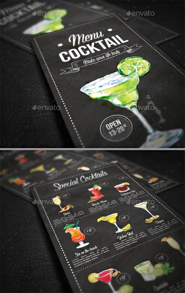 drinks menu premium