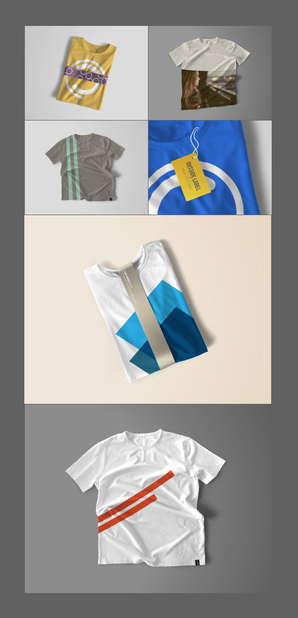 customizable mockups shirts