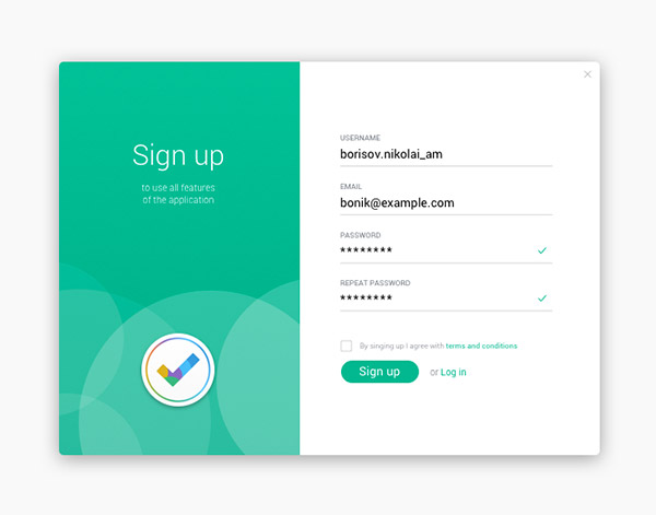 44 Beautiful Sign Up form Designs | Naldz Graphics