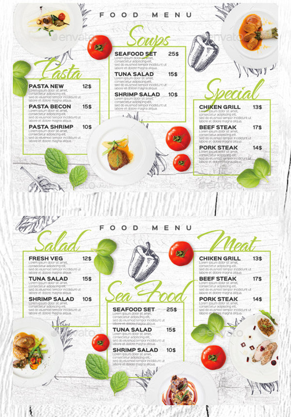 wood texture menu