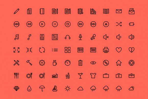 webfont icons freebie