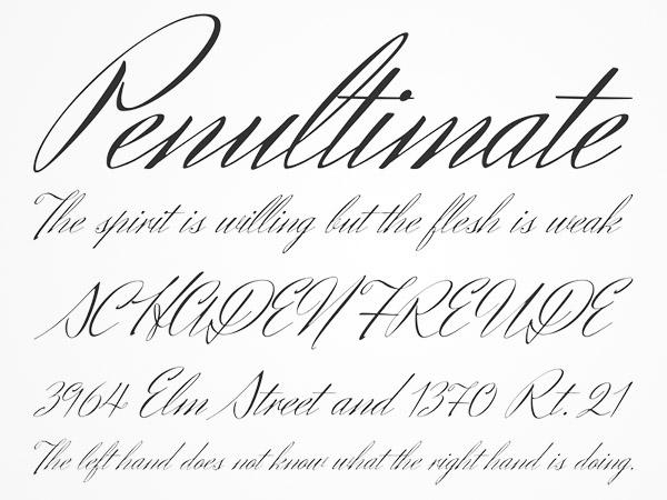 italic elegant handwritten