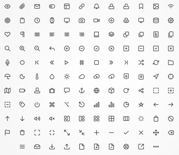 line font icon
