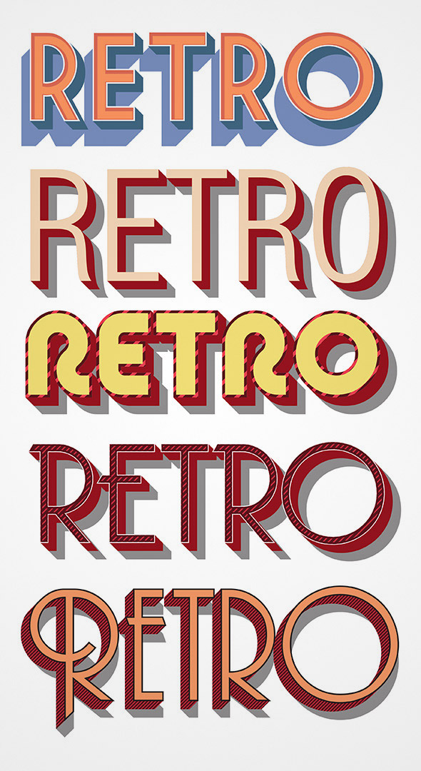 vector retro styles