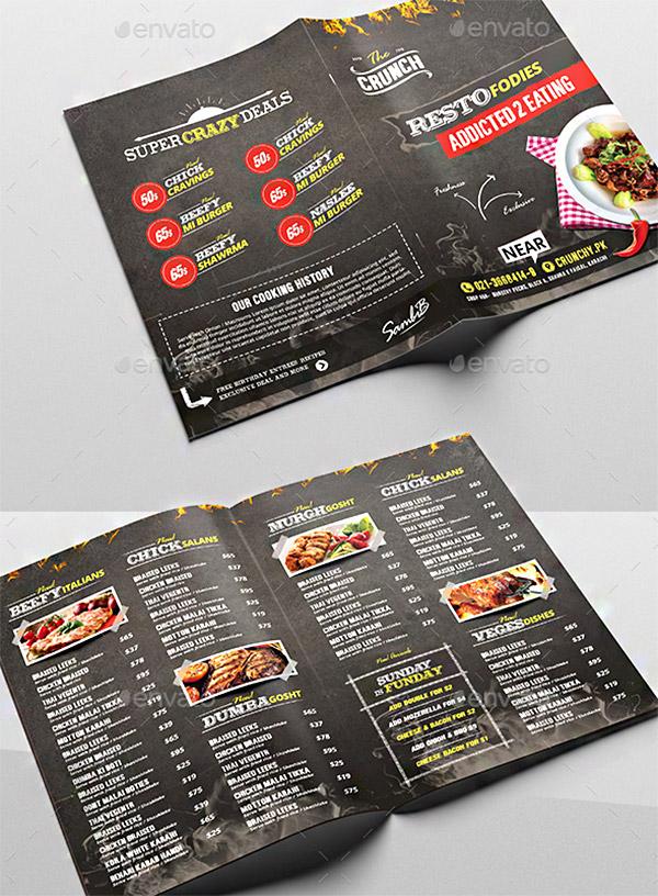 blackboard bifold brochure
