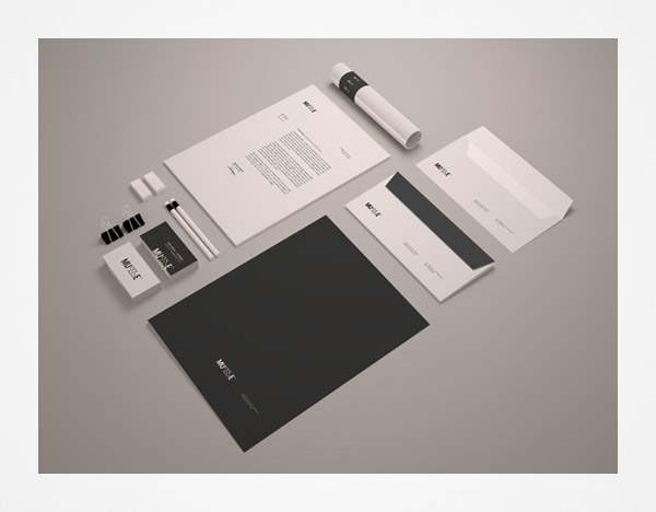 stationary template mockup