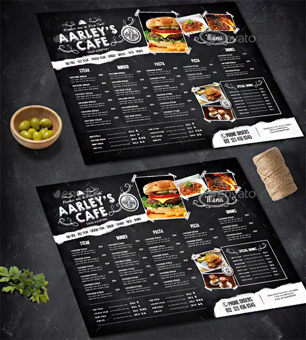 chalkboard theme menu