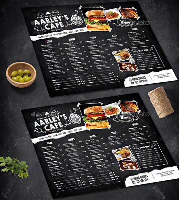 chalkboard theme menu