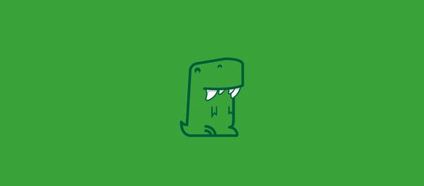 cute dinosaur logos