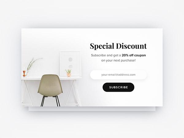 elegant white subscription