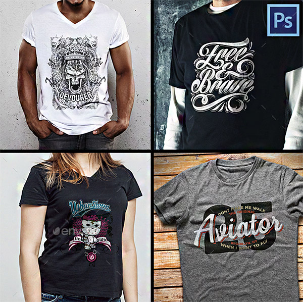mockups collections shirts