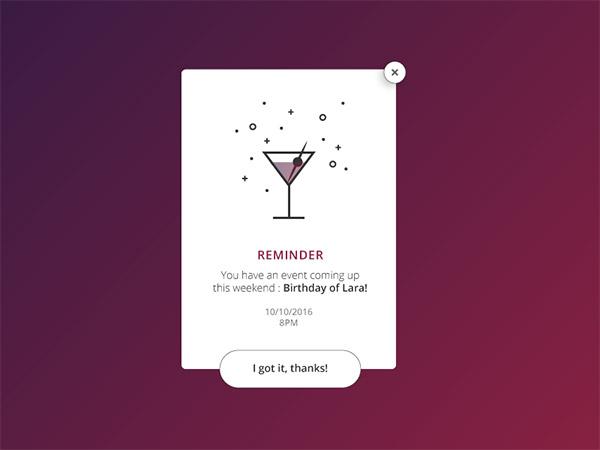 minimal illustration popup