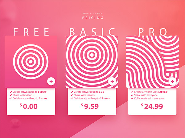 pink spiral graphics