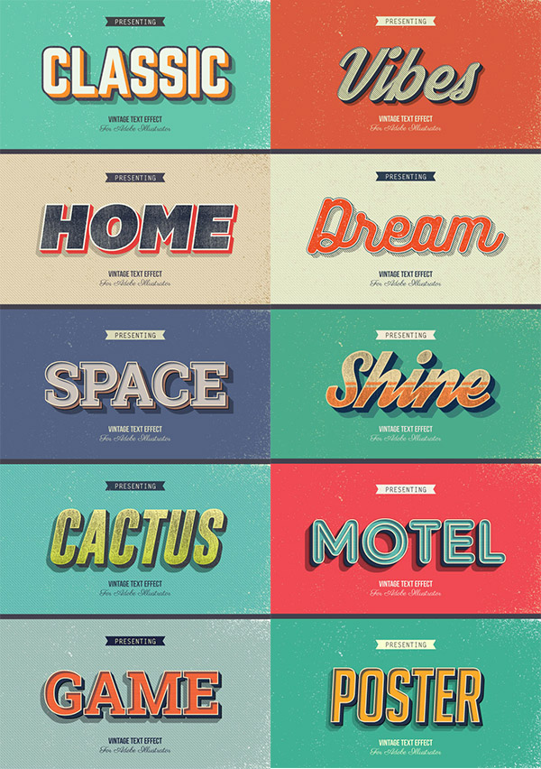 retro typography designs