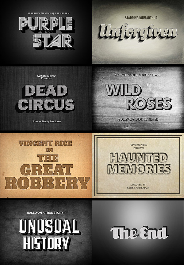 movie vintage designs