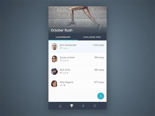 modern leaderboard UI