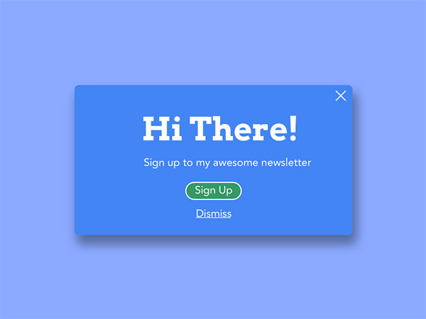 blue signup window